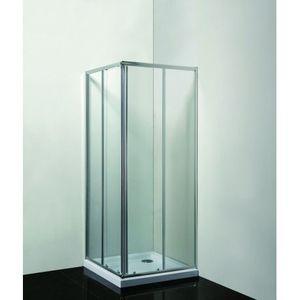 HOPA Sprchový kout SMART RANDA Hliník chrom, 190 cm, 90 cm × 90 cm, Univerzální, Čiré bezpečnostní sklo 4 / 6 mm OLBRAN90CCBV obraz