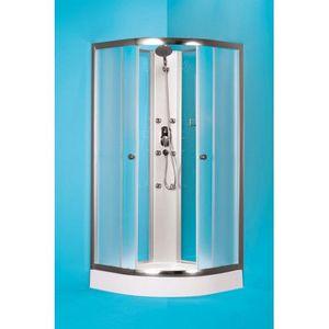 HOPA Čtvrtkruhový sprchový box GRANADA Barva rámu zástěny Hliník chrom, Rozměr A 90 cm, Rozměr B 90 cm, Vanička HL Akrylová vanička OLBGRA90CMBV+OLBGRA90V obraz