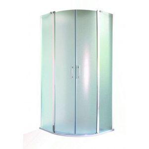 HOPA Sprchový kout LEIDA Hliník chrom, 190 cm, 90 cm × 90 cm, Univerzální, Čiré bezpečnostní sklo 6 mm OLBLEI90CC obraz