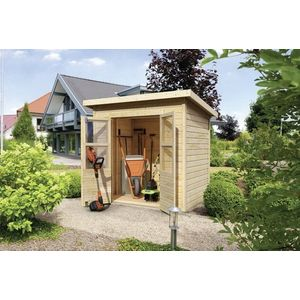 Dřevěný zahradní domek 182 x 122 cm Dekorhome obraz