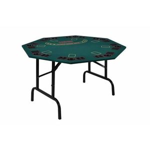 Garthen 5968 Skládací pokerový stůl pro 8 osob s držáky na nápoje 122 x 122 x 76 cm obraz