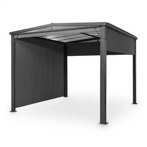 Blumfeldt Pantheon Cortina Solid Sky, pergola, přístřešek, 3x3m, polykarbonát, šedá obraz
