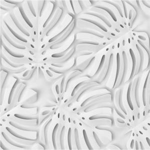 Skleněný panel 60/60 Monstera White Esg obraz