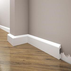 Podlahová lišta Elegance LPC-04-T101 bílá satén obraz
