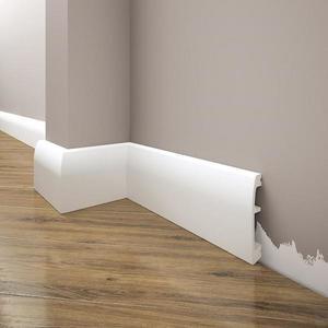 Podlahová lišta Elegance LPC-06-T101 bílá satén obraz