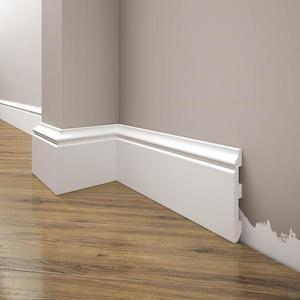 Podlahová lišta Elegance LPC-07-T101 bílá satén obraz