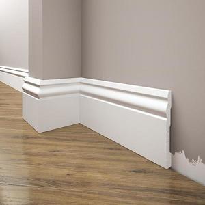 Podlahová lišta Elegance LPC-08-T101 bílá satén obraz