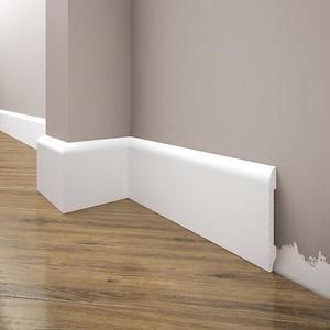 Podlahová lišta Elegance LPC-11-T101 bílá satén obraz