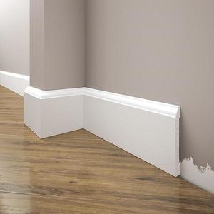 Podlahová lišta Elegance LPC-15-T101 bílá satén obraz