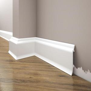 Podlahová lišta Elegance LPC-16-T101 bílá satén obraz