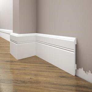 Podlahová lišta Elegance LPC-18-T101 bílá satén obraz