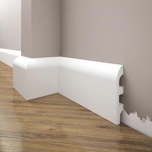 Podlahová lišta Elegance LPC-99-T101 bílá satén obraz