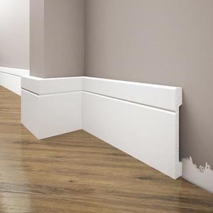 Podlahová lišta Elegance LPC-20-T101 bílá satén obraz