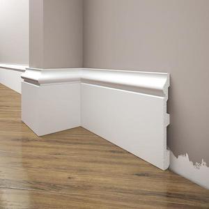Podlahová lišta Elegance LPC-22-T101 bílá satén obraz