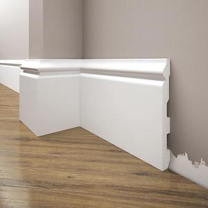 Podlahová lišta Elegance LPC-24-T101 bílá satén obraz
