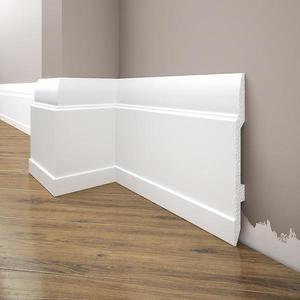 Podlahová lišta Elegance LPC-25-T101 bílá satén obraz