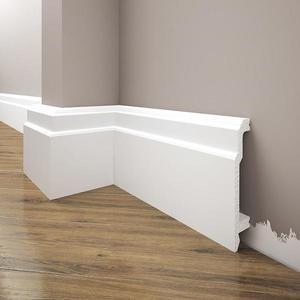 Podlahová lišta Elegance LPC-26-T101 bílá satén obraz