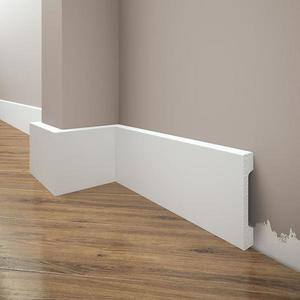 Podlahová lišta Elegance LPC-28-T101 bílá satén obraz