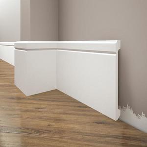 Podlahová lišta Elegance LPC-30-101 bílá mat obraz