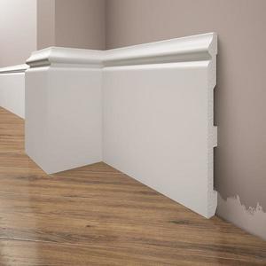 Podlahová lišta Elegance LPC-33-T101 bílá satén obraz