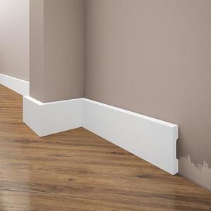 Podlahová lišta Elegance LPC-36-T101 bílá satén obraz