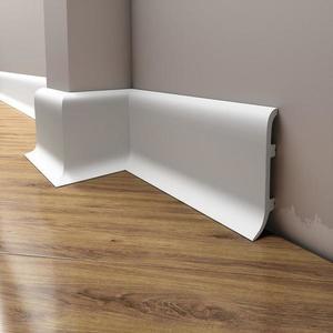 Podlahová lišta Elegance LPC-40-T101 bílá satén obraz