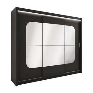 Skříň Barcelona 250 Černá/Zrcadlo obraz