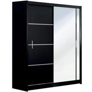 Skříň Vista 150 Černá/Zrcadlo obraz