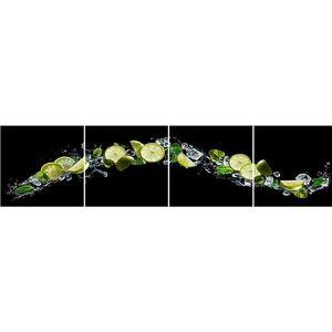 Skleněný panel 60/240 Citrus-Black 4-Elem obraz