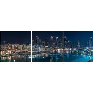 Skleněný panel 60/180 City-8 3-Elem obraz