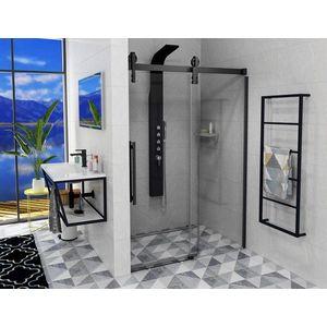 Gelco VOLCANO BLACK sprchové dveře 1800 mm, čiré sklo obraz