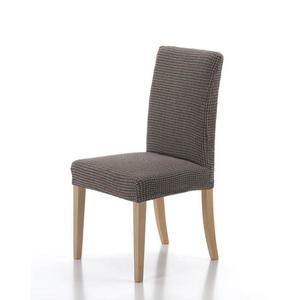 Forbyt, Potah elastický na celou židli, komplet 2 ks SADA, hnědý obraz