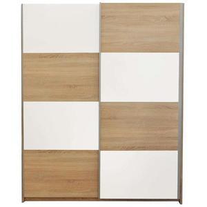 Skříň Alfa 3 150cm Dub Sonoma/Bílá obraz