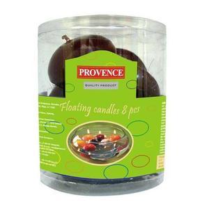 Provence Svíčky plovoucí 8 ks tmavě červená, 4, 3 x 2, 8 cm obraz