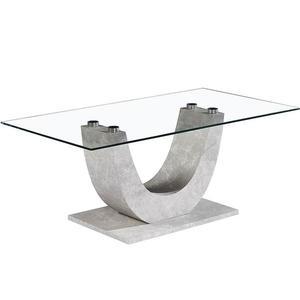 Konferenční Stolek Iron 110cm Sklo/Beton obraz