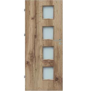 Interiérové dveře Kwadro 4*4 90L dub wotan 385 obraz