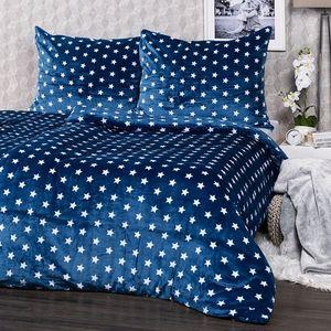 4Home povlečení mikroflanel Stars modrá, 140 x 220 cm, 70 x 90 cm, 140 x 220 cm, 70 x 90 cm obraz
