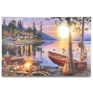 Nástěnná malba Západ slunce - 8 LED, 40 x 60 cm obraz