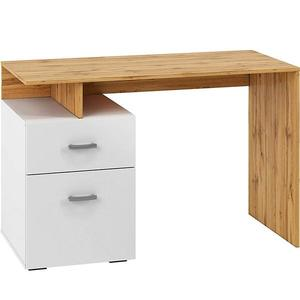 Psací Stůl Miu 119cm Dub Wotan/Bílý obraz