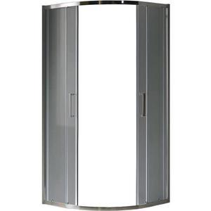 Sprchový kout čtvrtkruhový Aura 80x80x190 grafitové-chrom obraz