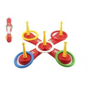 Házecí hra plast kříž s kruhy v síťce obraz