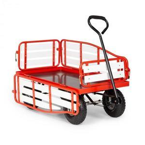 Waldbeck Ventura, ruční vozík, maximální zátěž 300 kg, ocel, WPC, červený obraz
