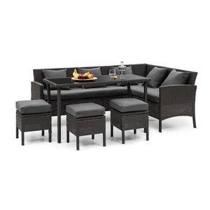 Blumfeldt Titania Dining Lounge set zahradní sedací souprava, černá / tmavě šedá obraz