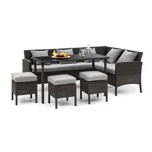 Blumfeldt Titania Dining Lounge set zahradní sedací souprava, černá / světle šedá obraz