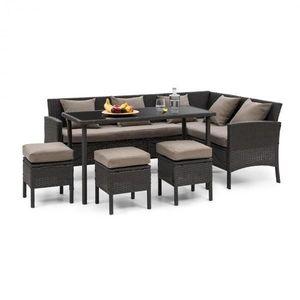 Blumfeldt Titania Dining Lounge set zahradní sedací souprava, černá / hnědá obraz
