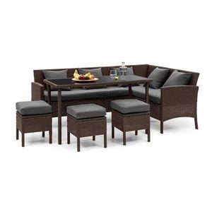 Blumfeldt Titania Dining Lounge set zahradní sedací souprava, hnědá / tmavě šedá obraz