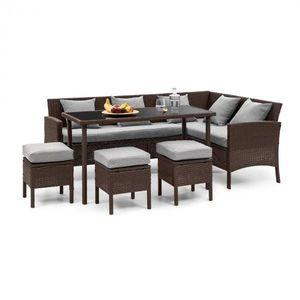 Blumfeldt Titania Dining Lounge set zahradní sedací souprava, hnědá / světle šedá obraz