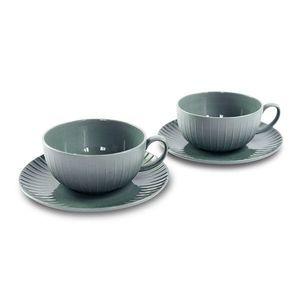 Porcelánový set 2 šálků na čaj, 200 ml, šedá - WD Lifestyle obraz