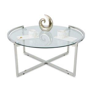 DekorStyle Konferenční stolek SOLAS SILVER II obraz