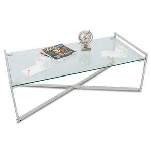 DekorStyle Konferenční stolek SOLAS SILVER III obraz